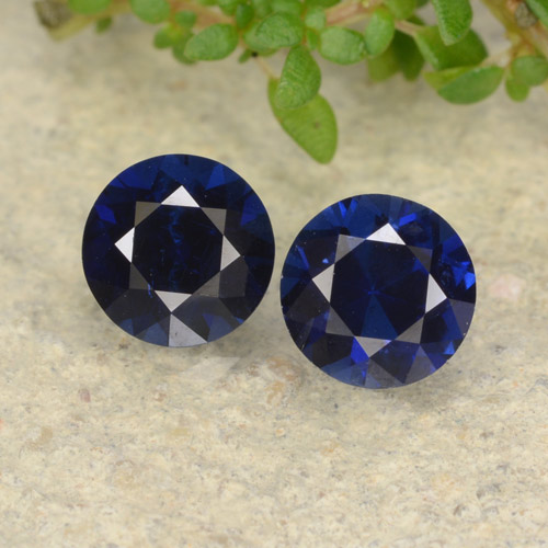 Royal Blue Sapphire Gem - 0.6ct Diamond-Cut (ID: 479330)