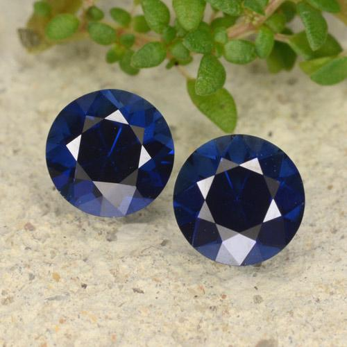 Deep Blue Sapphire Gem - 0.6ct Diamond-Cut (ID: 479335)