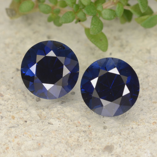 Royal Blue Sapphire Gem - 0.6ct Diamond-Cut (ID: 479336)