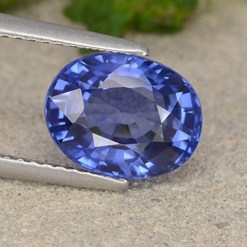 Blue Sapphire Gem - 4ct Oval Facet (ID: 487093)