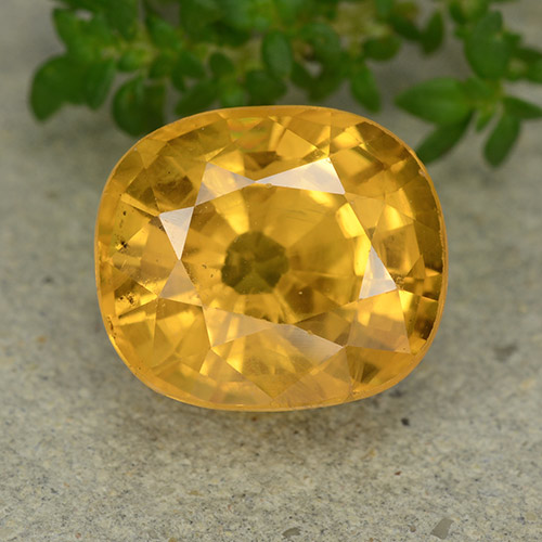 Deep Golden Orange Sapphire Gem - 6.9ct Oval Facet (ID: 488881)