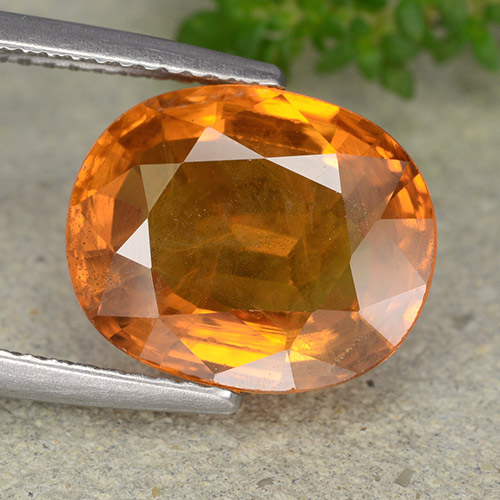 6.7ct Oval Facet Orange Sapphire Gem (ID: 488882)