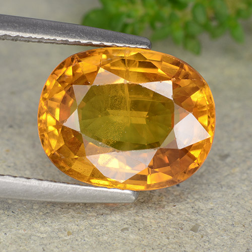 Yellow Golden Sapphire Gem - 6ct Oval Facet (ID: 488883)