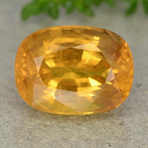 Deep Orange-Gold Zafiro Gema - 9.4ct Forma ovalada (ID: 488887)