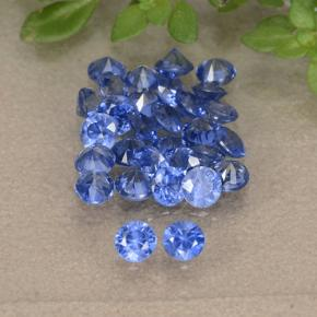 Blue Sapphire Gem - 0.1ct Diamond-Cut (ID: 490803)