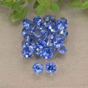 Blue Sapphire Gem - 0.1ct Diamond-Cut (ID: 490804)