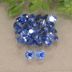Blue Sapphire Gem - 0.1ct Diamond-Cut (ID: 490806)