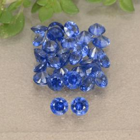 Blue Sapphire Gem - 0.1ct Diamond-Cut (ID: 490808)