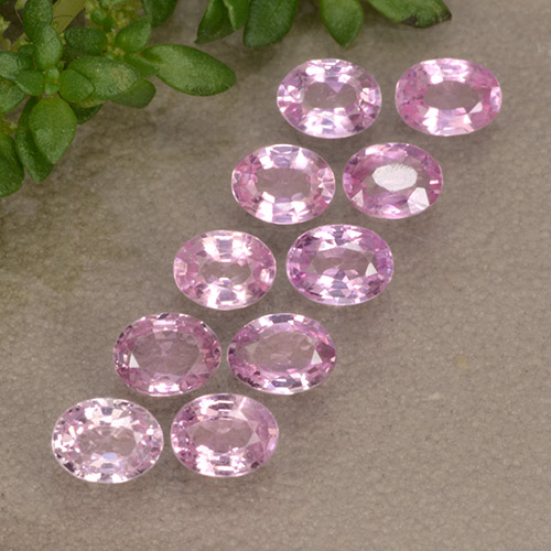 Very Light Royal Purple Pink Zafiro Gema - 0.2ct Forma ovalada (ID: 492012)