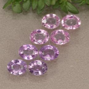 Pinkish Purple Sapphire Gem - 0.2ct Oval Facet (ID: 492049)