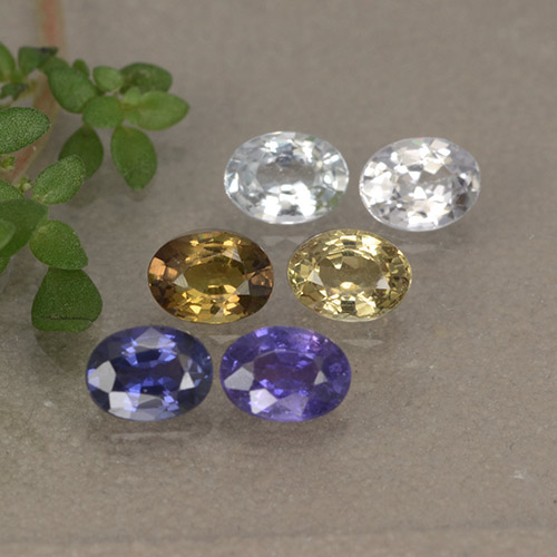 Multicolor Sapphire Gem - 0.2ct Oval Facet (ID: 492492)