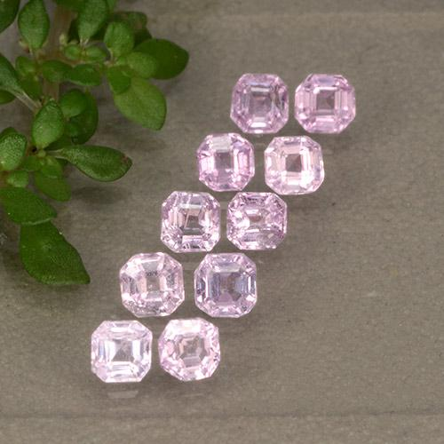Very Light Pink Sapphire Gem - 0.1ct Octagon Step Cut (ID: 492556)