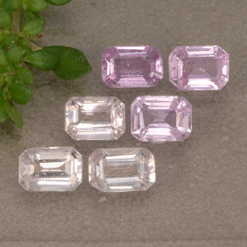 Light Pink Sapphire Gem - 0.3ct Octagon Step Cut (ID: 492661)