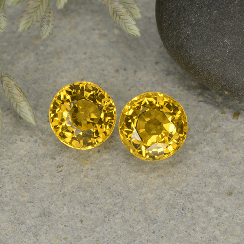 Yellow Sapphire Gem - 0.7ct Round Facet (ID: 494273)