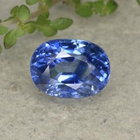 Blue Sapphire Gem - 2.5ct Oval Facet (ID: 494997)