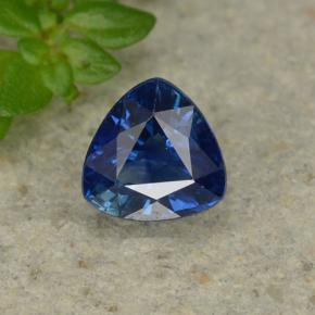 Deep Blue Sapphire Gem - 0.5ct Trillion Facet (ID: 495408)