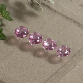 Very Light Royal Purple Pink Sapphire Gem - 0.3ct Round Cabochon (ID: 495685)