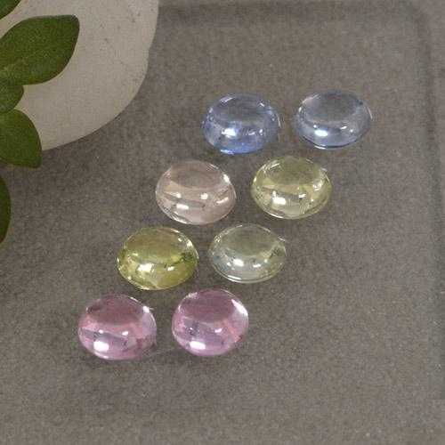 Multicolor Sapphire Gem - 0.3ct Round Cabochon (ID: 495722)