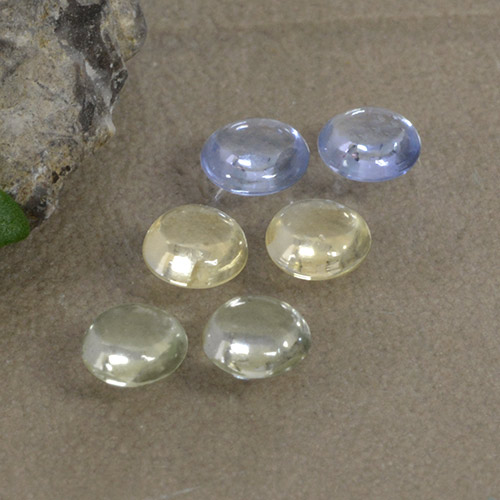 Multicolor Sapphire Gem - 0.3ct Round Cabochon (ID: 495734)