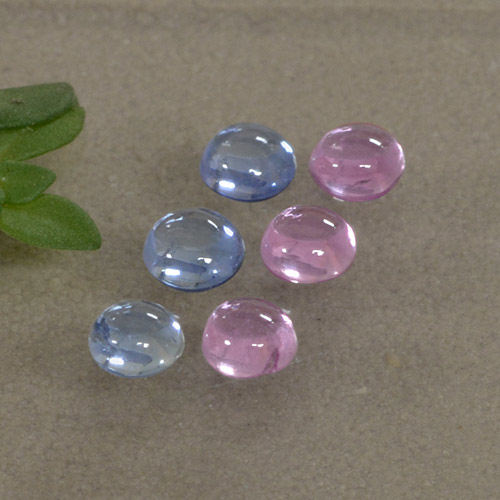 Multicolor Sapphire Gem - 0.2ct Round Cabochon (ID: 495742)