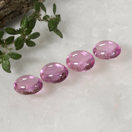 Very Light Pink Sapphire Gem - 0.5ct Oval Cabochon (ID: 496336)