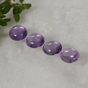 thumb image of 0.3ct Round Cabochon Violet Pink Sapphire (ID: 496340)