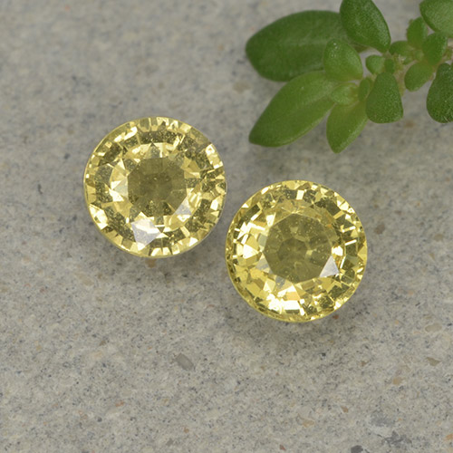 Light Yellow Sapphire Gem - 0.4ct Round Facet (ID: 496434)