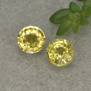Golden Yellow Sapphire Gem - 0.4ct Round Facet (ID: 496435)
