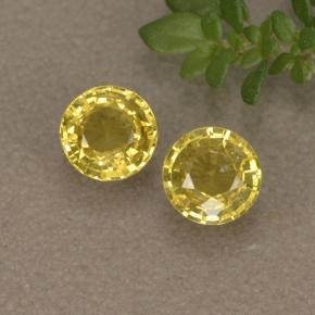 thumb image of 0.7ct Round Facet Golden Yellow Sapphire (ID: 496441)