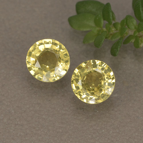 Golden Yellow Sapphire Gem - 0.4ct Round Facet (ID: 496443)