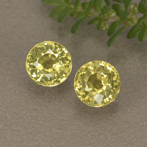 Golden Yellow Sapphire Gem - 0.5ct Round Facet (ID: 496444)