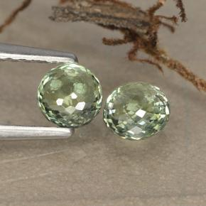 Yellowish Green Sapphire Gem - 0.6ct Round Mixed-Cut (ID: 496546)