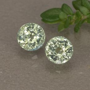 Light Forest Green Sapphire Gem - 0.5ct Round Facet (ID: 496555)