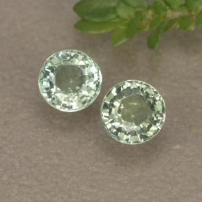0 76 ctw Light Green Sapphire