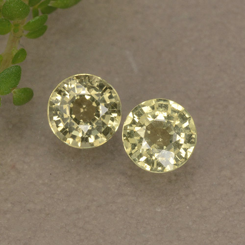 Yellowish Green Sapphire Gem - 0.3ct Round Facet (ID: 496563)