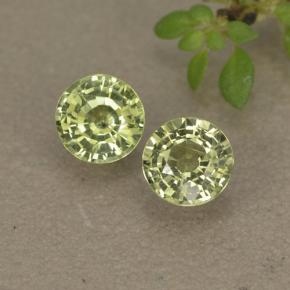 thumb image of 0.5ct Round Facet Yellowish Green Sapphire (ID: 496564)
