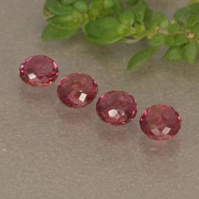 Reddish Orange Sapphire Gem - 0.2ct Round Mixed-Cut (ID: 496640)