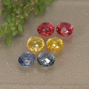 Multicolor Sapphire Gem - 0.4ct Round Mixed-Cut (ID: 496666)