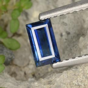 Deep Blue Sapphire Gem - 0.6ct Baguette Step Cut (ID: 497118)