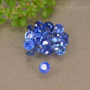 Blue Sapphire Gem - 0.1ct Diamond-Cut (ID: 497157)