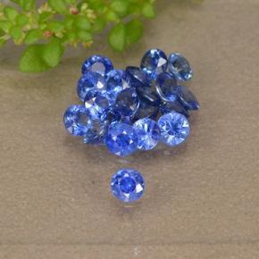 Blue Sapphire Gem - 0.1ct Diamond-Cut (ID: 497160)