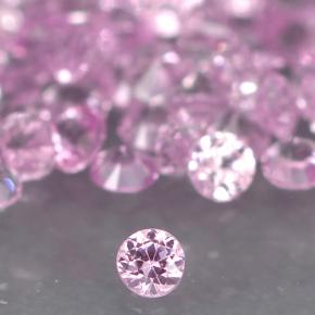 Medium Pink Zaffiro Gem - 0ct Taglio brillante (ID: 499735)