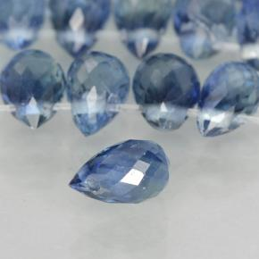 Blue Sapphire Gem - 0.3ct Briolette with Hole (ID: 500750)