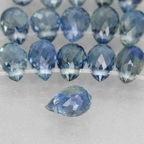 Greenish Blue Sapphire Gem - 0.3ct Briolette with Hole (ID: 500754)