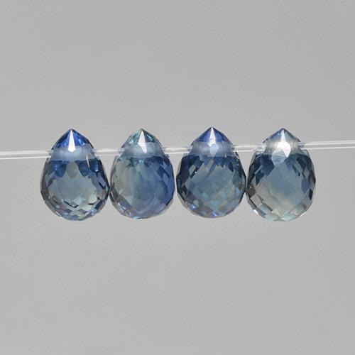 Blue Sapphire Gem - 0.3ct Briolette with Hole (ID: 501655)
