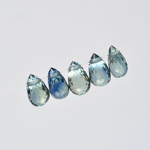Multicolor Sapphire Gem - 0.4ct Briolette with Hole (ID: 501657)