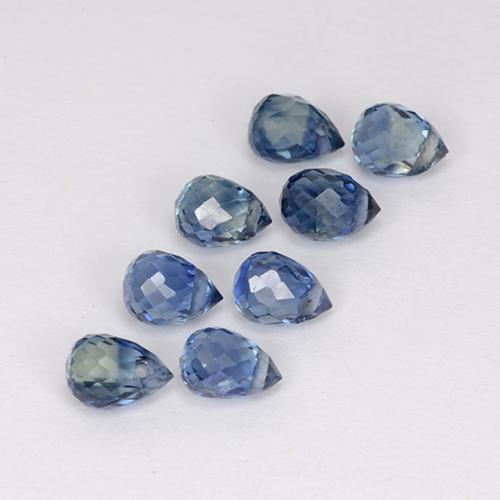 Blue Sapphire Gem - 0.3ct Briolette with Hole (ID: 501718)