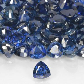 Bleu Saphir gemme - 0.5ct Facette trillion (ID: 503404)