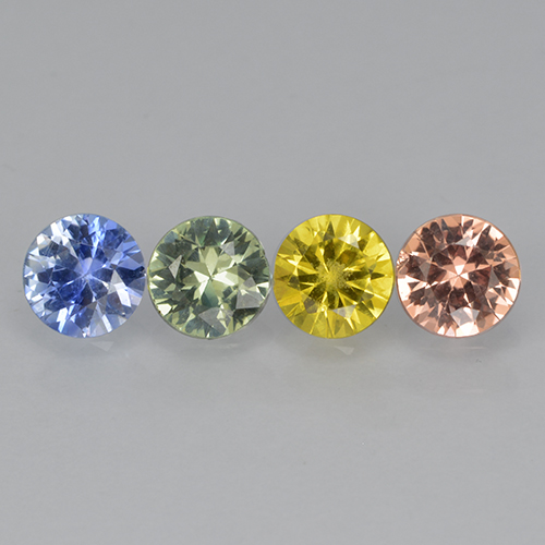 Multicolor Sapphire Gem - 0.3ct Diamond-Cut (ID: 503659)