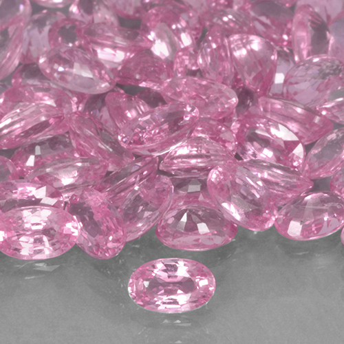Hot Pink Sapphire Gem - 0.3ct Oval Facet (ID: 503693)